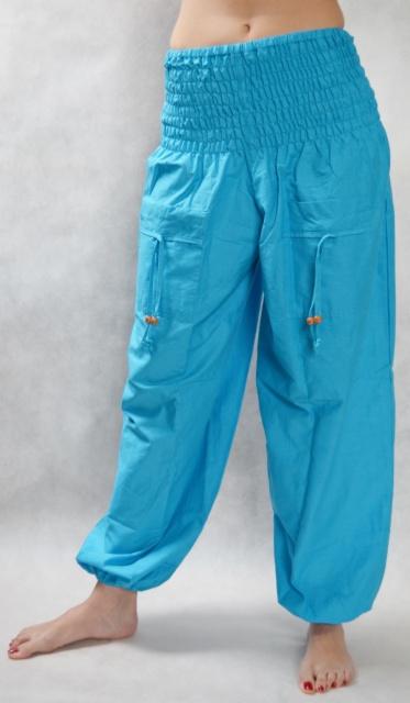 Turecké kalhoty - Aladinky - Haremky - Pumpy (modra)  ALL0001 ... 946b890b73