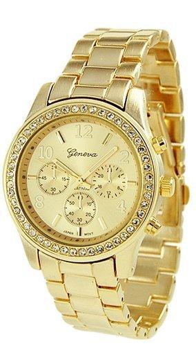 Luxusní zlaté dámské hodinky Geneva  ZCZT2  - Eshop Selmars 17c1285388