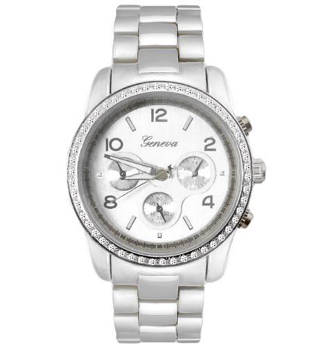 Luxusní střibrne dámské hodinky Geneva  SCBT  - Eshop Selmars 13e18374f7
