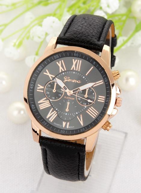 Luxusní dámské hodinky Geneva Platinum Rome Black - Eshop Selmars 9911445f5d9
