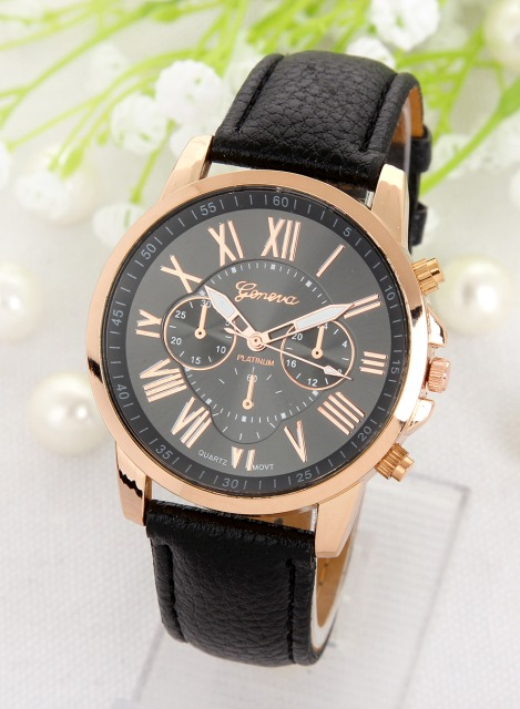 Luxusní dámské hodinky Geneva Platinum Rome Black - Eshop Selmars e291a307c1