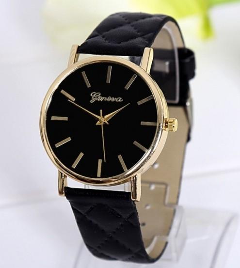 Luxusní dámské hodinky Geneva Platinum Vogue Black - Eshop Selmars ab84ccd17c