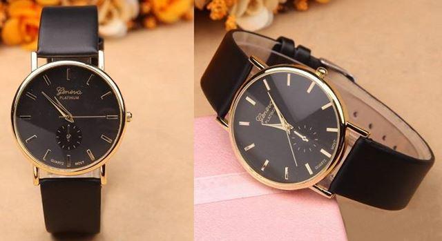 Luxusní dámské hodinky Geneva Platinum Classic Black - Eshop Selmars c716fa225d7