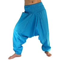 Turecké kalhoty - Aladinky - Haremky - Pumpy (sv. modrá)  ALL0013  - Eshop  Selmars 7d20ad32b9