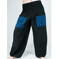 ... Turecké kalhoty - Aladinky - Haremky - Pumpy (černo-modra)  ALL0024  fb53bcdb59